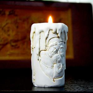 سيليكون العفن شمعة قوالب الكاثوليكية العائلة المقدسة من ثلاثة اليدوية شكل شمعة حامل العفن رائحة حجر قوالب