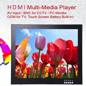 12 인치 1024X768 HD CCTV 모니터 (메탈 쉘 포함) HDMI VGA AV BNC 커넥터 (PC 멀티미디어 도너 디스플레이 현미경)