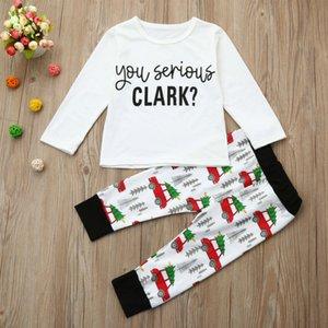 2018 New Christmas Kids Pigiama Set Pigiama di Natale di alta qualità 2-7Yrs Neonate maschi Vestiti per bambini Set di abbigliamento CC499 Y18103008