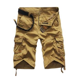 IZQUIERDA ROM Nueva productos de los hombres de alta calidad de algodón puro camuflaje de carga cortos / pantalones cortos masculinos de la moda del camuflaje flojo y cómodo