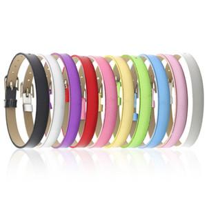 8MM Metallic Surface Wristband Armbänder (10 Stück / Los) DIY Zubehör Fit Slide Letters, Diacharme, Perlen