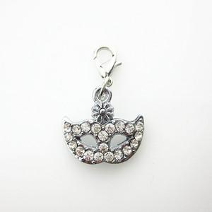 20 / pcs vendita caldo aragosta catenaccio del cristallo di rocca maschera ciondola i fascini per medaglioni pendente galleggiante gioielli fai da te