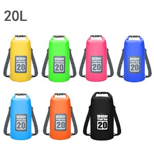 20L Waterproof Unisex 6 Colors PVC Outdoor Sand Beach Drift Swimming Bag Bucket