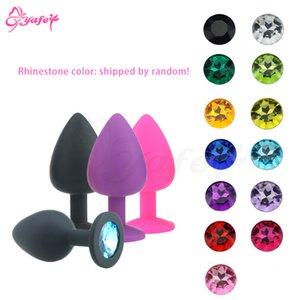 1 Joyas de sexo Diamond PCs Anal Vibración Anal Juguetes Coloridos Cristal para Tope Anal Mujeres Enchufe Intimate Sex Silicone Toys Vibradores S921 Jovps