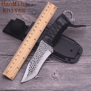 Outdoor survival fixed knife camping portable hunting dive rescue tactical pocket utility knives steel &leather EDC fishing tool Kitchenware