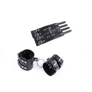 Бондаж рабские ограничения Искусственные кожаные наручники наручные бортовые корпусные жгуты жгуты # R87