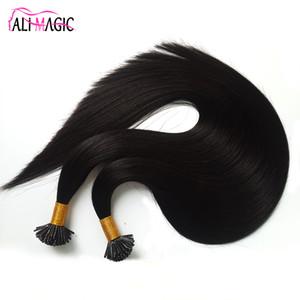 Le migliori estensioni per capelli di colla di cheratina non trasformate 20 22 24inch stick per unghie i tip estensioni dei capelli umani all'ingrosso Fusion cheratina italiana 100g