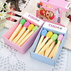 8 unidades / pacote Bonito Kawaii Jogos Eraser Adorável Borracha Colorida para Crianças Estudantes Crianças Criativo Item Presente