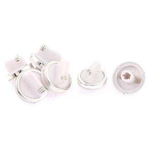 Al por mayor-6 PC / porción de 7 mm de diámetro interno del agujero eléctrico quemador de la estufa Horno de reemplazo de control de margen White Knob