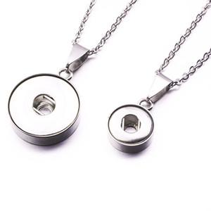 Нуса куски нержавеющей стали Оснастки кнопки подвески ожерелье подходят 12 мм 18 мм Оснастки кнопки DIY ювелирных изделий