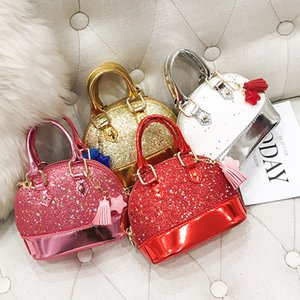 Mini Children Handbags Bags For With Sequin Glitter Purse For Toddler Kids Shell Shinning Bags Girls Chain Cute Shoulder JLC789-1 Crqfe