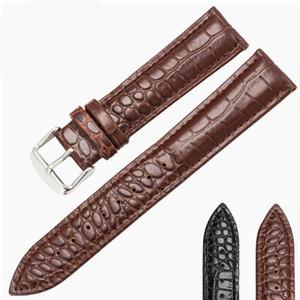 14mm 16mm 18mm 20mm Assista Strap Lizard Calf Genuine Pulseira De Couro Fina e Macia Preto Watch Band Para A Mulher homem relógios