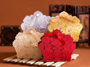 Classique Rouge Creux Fleur Boîte De Bonbons Papier De Découpe Faveur De Mariage Doux Cadeaux Boîte Romantique De Faveur De Mariage Titulaires