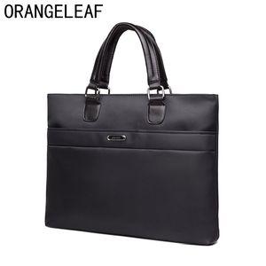 Business Men Briefcase Bag Nylon Oxford Black Blue  Designer Laptop Bag Office Large Capacity Briefcase