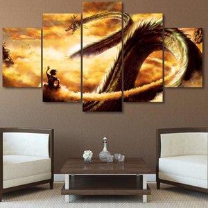 Modulaire Toile Affiche Moderne Peinture 5 Panneau Animation Dragon Ball Z Mur Art HD Imprimé Photos Pour Salon Décoration