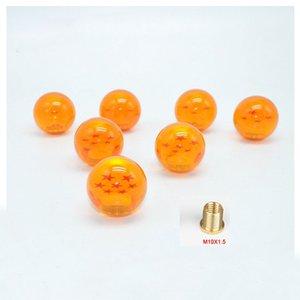 Ücretsiz Kargo M10 * 1.5 Dişli SHIFT TOPUZ Yıldız DRAGONBALL Z DRAGON BALL amber ejderha Araba Shift Topuzlar