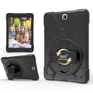 전신 Shockproof 하이브리드 실리콘 케이스 덮개 삼성 갤럭시 탭에 대한 9.7 T550 T555 태블릿 + 스타일러스