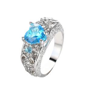 Anelli di fidanzamento rubino Anello principessa Cuore - A forma di anello di perle di granata freccia per donna Nuovo stile vendita calda