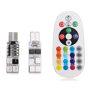 50 sets new high quality RGB remote control T10 Led light bulb 6smd5050 Led light bulb, car and remote control.