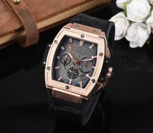 2019Hot venda brand42mmRunning segundos relógios dos homens QUARTZO relógios de luxo clássico masculino relógio casual Relogio marca relógios para mens