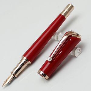 Luxe de haute qualité rouge et or rose Marilyn Muses signature Monroe Fashion Lady Stylo plume avec clip Perle for Love