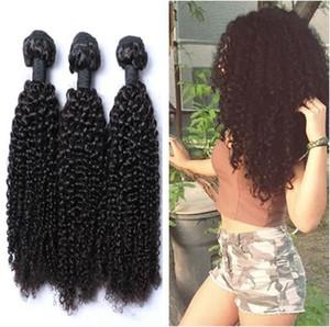 Перуанские завитые человеческие волосы ткут 100% Virgin Необработанных 8А бразильские малазийские индийские камбоджийские монгольские Kinky завитых волос
