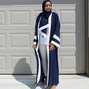 Dress and Hijab Per set Nouveaux élégants femmes musulmanes Abaya couleur couture Raya Muslim robe avec ceinture quatre couleurs plus la taille robe islamique