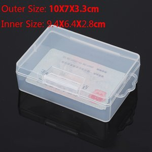 2Pc/Lot Transparent Flat Rectangular Small Box Clear Plastic Box Paaging Plastic Storage PP With a lid