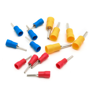 300PCS Suyep Wire Ferrules Crimp Connectors Pin-Shaped Pre-Insulating Terminal Type TZ-JTK Assortment Pack, Fitted 22-16 16-14 12-10 A.W.G