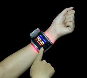 독특한 디자인의 침술 기계 손목 시계와 혈류 개선을위한 적색 레이저와 황색 빛