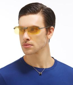 Al por mayor-Gafas de Deporte de Conducción Lentes de Sol Amarillo Lense Visión Nocturna Gafas de Conducción Gafas de Sol Polarizadas Hombres Gafas Reduce el Deslumbramiento