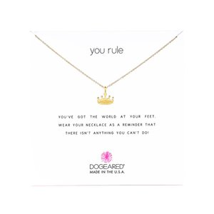 Dogeared Choker Necklaces With Card Gold Silver Crown Pendant Necklace For Fashion Women Jewelry YOU RULE