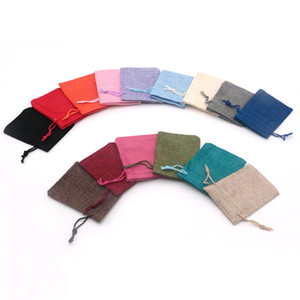 New arrival 50Pcs lot Fashion 7x9cm Jute Gift Bags Wedding Favor Christmas jewellry packaging earring Drawstring jewelry Pouch