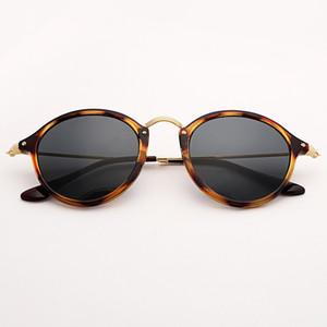 Bolo.ban miroir lentille en verre 2447 lunettes de soleil moucheté ronde femmes 49mm tortue Lunettes de soleil UV400 Gafas
