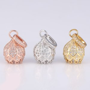 Accessoires de bricolage gros bijoux Fournitures Faire Marqueterie CZ strass Cuivre Métal Perle / Rocailles Glands Cap Charms Connecteurs Trouver