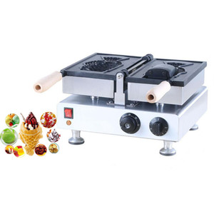 High Efficiency Gewerbe Ice Cream Taiyaki Maschine / Big Fish Shaped Kuchen-Form / Elektro Open Mouth Taiyaki Hersteller-Maschine