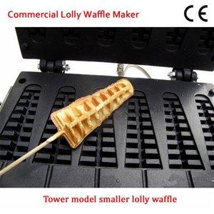 6 moules électriques antiadhésifs de machine de gaufre de laitière anti-glaçons de fabricant de gaufres de forme commerciale de pin 110V 220V CE