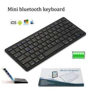 Nuevos teclados de teléfonos móviles Bluetooth 3.0 Mini 78 teclas del teclado inalámbrico ultr-delgado portátil para ipad móvil inteligente de ajuste ios ventanas androide