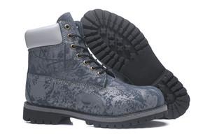 2018 bottes hommes classique camouflage bleu zoo Full Grain en cuir traçage Chaussures Baskets Casual Travail Randonnée Hiver Chaussures De Mode taille 40-45