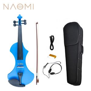 NAOMI Elektrikli Keman 4/4 Sessiz Keman Tam Boyutu 4/4 Elektrik Keman Fiddle Katı Ahşap SET YENI