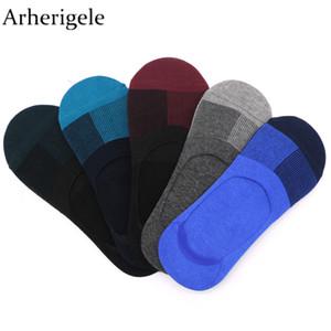 Arherigele 4 pezzi 2 paia calze di cotone da uomo solido low cut calzino estate casual casual calzini invisibili pantofole colorato corto