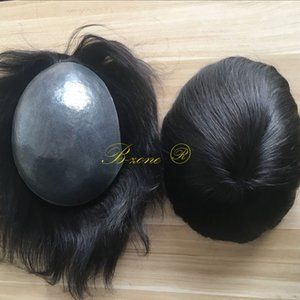 Menschliches Haar Toupee 8x10 Zoll dünne Haut voll Pu Toupee Men Hair Piece System