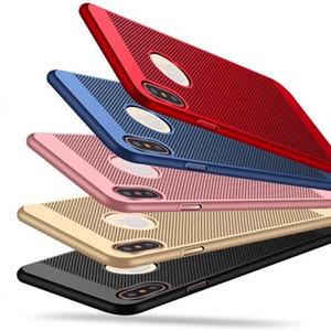 Dissipation de la chaleur Mesh Net Évider Dot Respirant Slim Arrière Cas de Couverture de Téléphone Pour iPhone X 8 8plus 7 7plus 6plus 6s