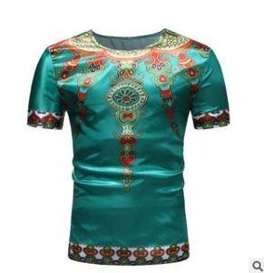 2018 summer mens t shirts estilo étnico impreso cuello redondo de manga corta T-shirt top camisetas casuales de moda