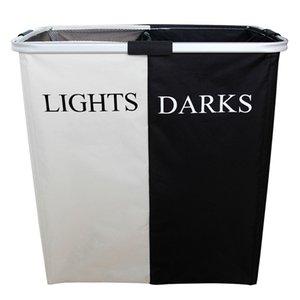 Cestino di immagazzinaggio in bianco e nero Cesto di lavanderia in tessuto Pieghevole Oxford Sacchetto di vestiti sporchi Sacchetto della biancheria Grande capacità di stoccaggio giocattolo