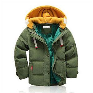 KEAIYOUHUO 2017 Осень Зима Куртка для мальчиков куртка дети теплый капюшоном верхняя одежда пальто дети пуховики подросток мальчики одежда