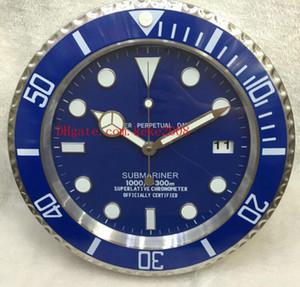 3 colores Moda reloj de pared bueno 116610 Decoración del hogar Reloj de pared 34 CM x 5 CM 3 KG Acero inoxidable Cuarzo Reloj electrónico azul luminiscente