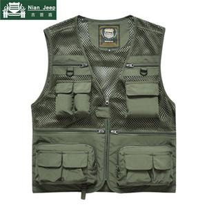 2018 New shelves High Quality Travel Vest Men Summer Solid Color Vest Fish Pokets Loose chalecos para hombre