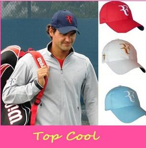 Gorra de tenis 2018 Hombres Más Recientes Mujeres Roger Federer RF Híbrido Gorras de Béisbol Tenis Raqueta Sombrero Snapback Cap Tenis Cap Envío Gratis