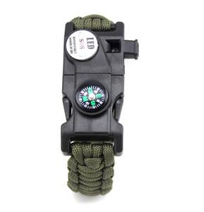 Halat SOS LED Survival Bilezik Erkekler Için Açık Kamp Kurtarma Acil Erkekler Paracord Bilezik